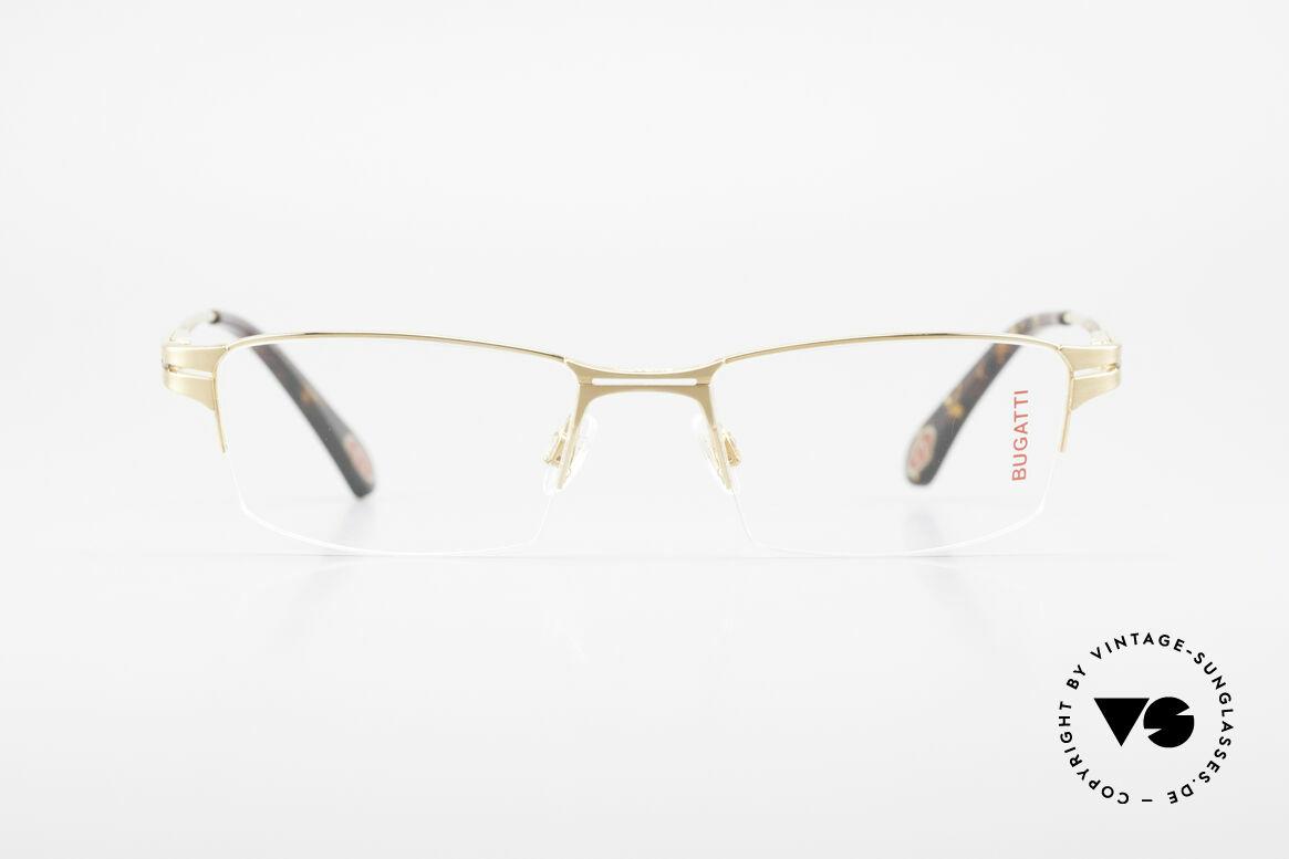 Bugatti 456 Nylor Titan Brille Vergoldet, Titanium-Rahmen (XL Größe) ist 22kt vergoldet, Passend für Herren