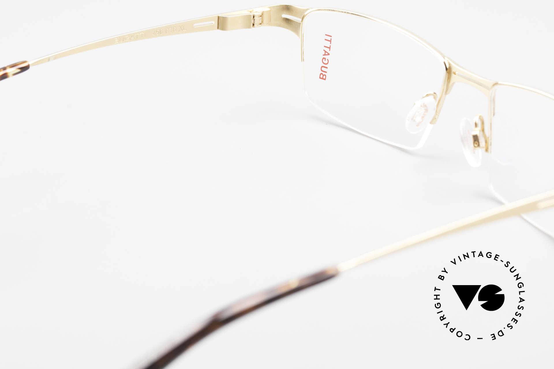 Bugatti 456 Nylor Titan Brille Vergoldet, ungetragen (wie alle unsere BUGATTI Fassungen), Passend für Herren