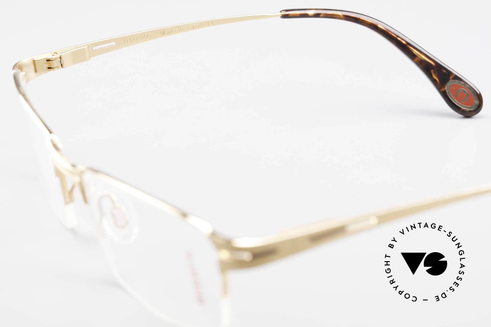 Bugatti 456 Nylor Titan Brille Vergoldet, KEIN RETRO; ein circa 15 Jahre altes ORIGINAL!, Passend für Herren