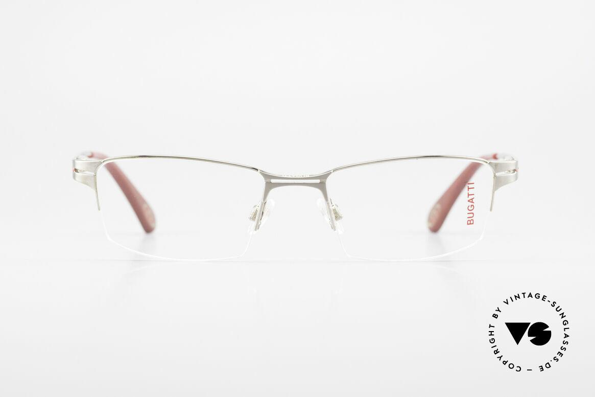 Bugatti 456 Nylor Titan Brille Palladium, Titanium-Rahmen (XL) ist Palladium satiniert, Passend für Herren