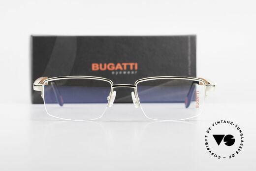 Bugatti 547 Padouk Edelholz Brille Gold M