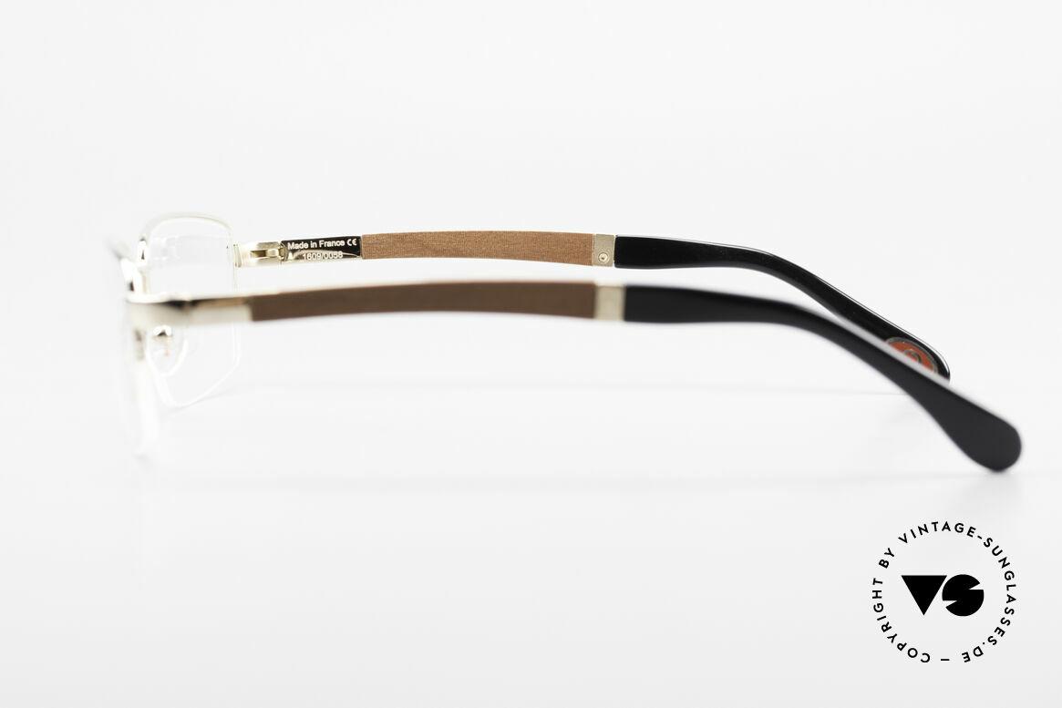 Bugatti 547 Padouk Edelholz Brille Gold L, Größe: large, Passend für Herren