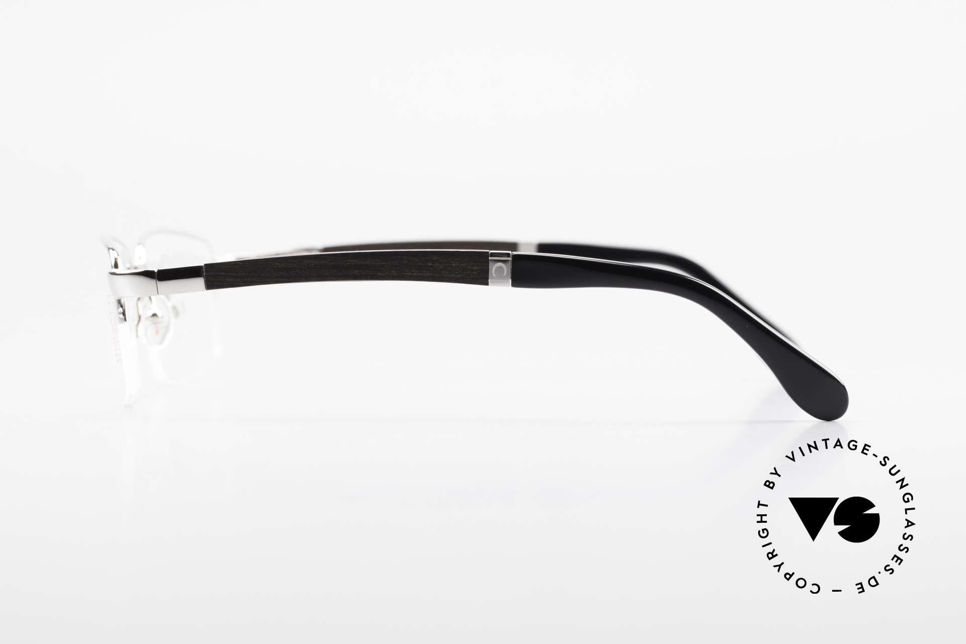 Bugatti 547 Ebenholz Palladium Brille M, flexible Federscharniere für eine optimale Passform, Passend für Herren