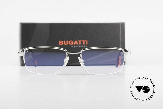 Bugatti 547 Ebenholz Palladium Brille L, Größe: large, Passend für Herren