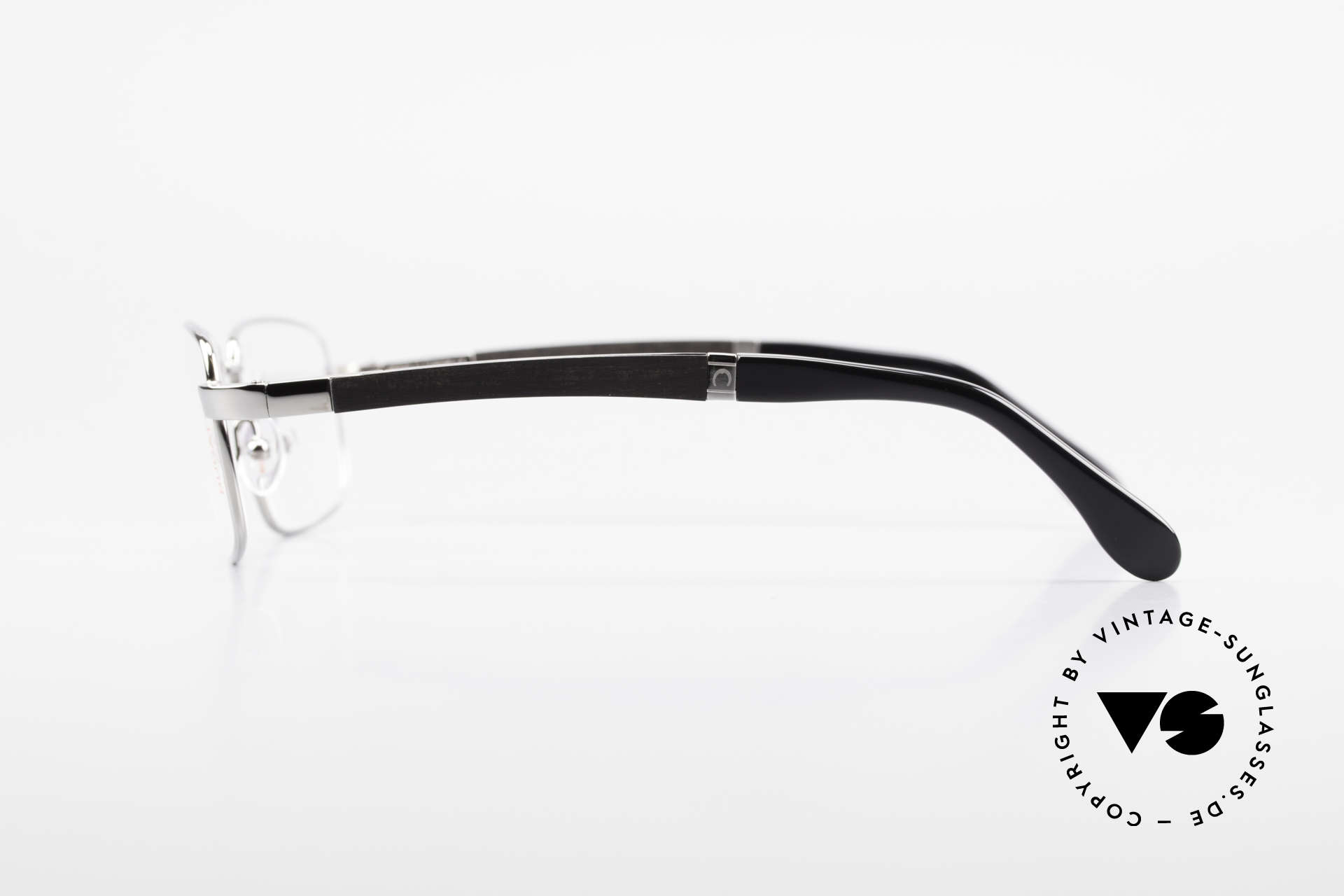 Bugatti 548 Ebenholz Ruthenium Brille M, flexible Federscharniere für eine optimale Passform, Passend für Herren
