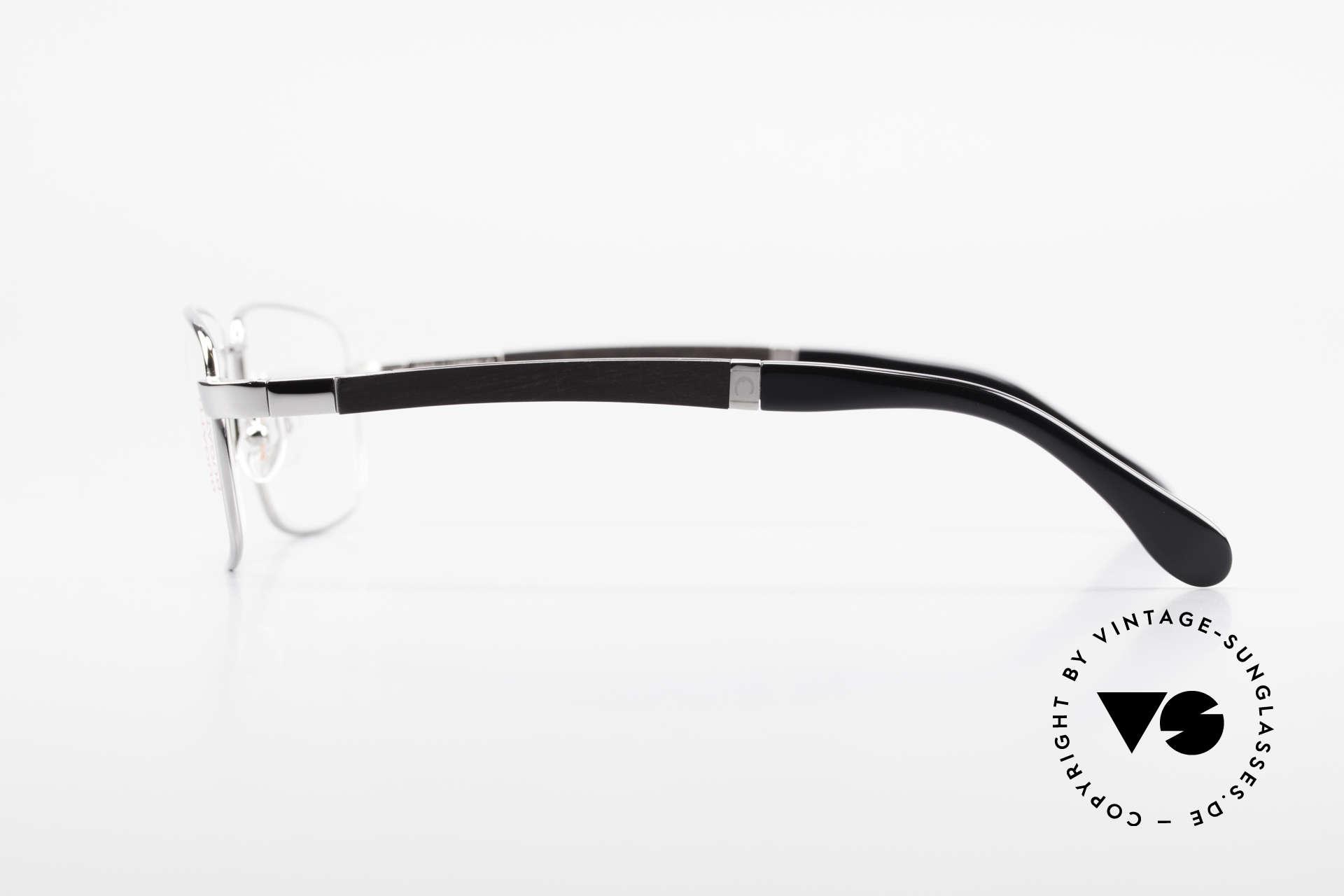 Bugatti 548 Ebenholz Ruthenium Brille L, flexible Federscharniere für eine optimale Passform, Passend für Herren