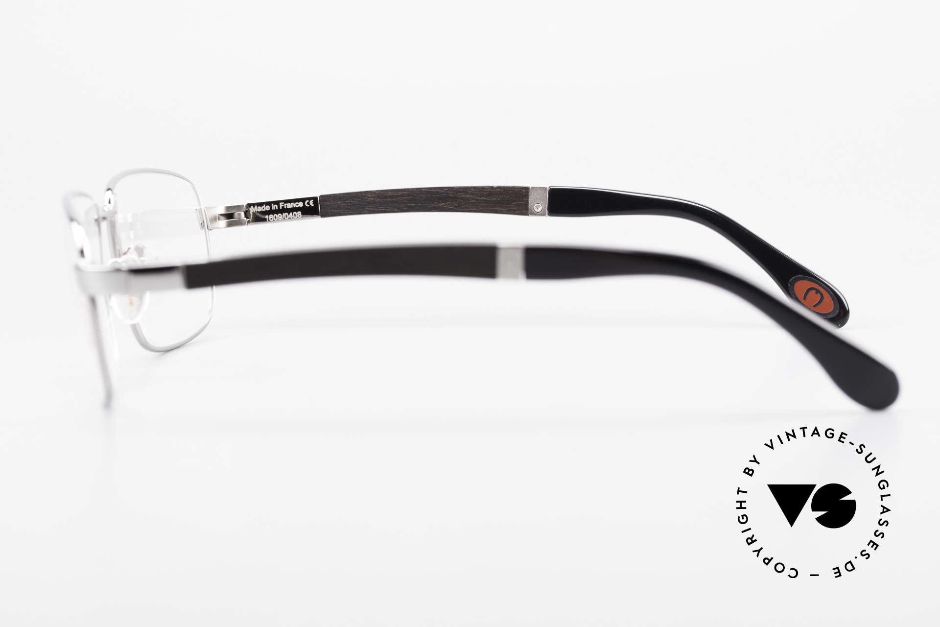 Bugatti 548 Ebenholz Ruthenium Brille L, absolutes Spitzen-Produkt in Design & Verarbeitung, Passend für Herren