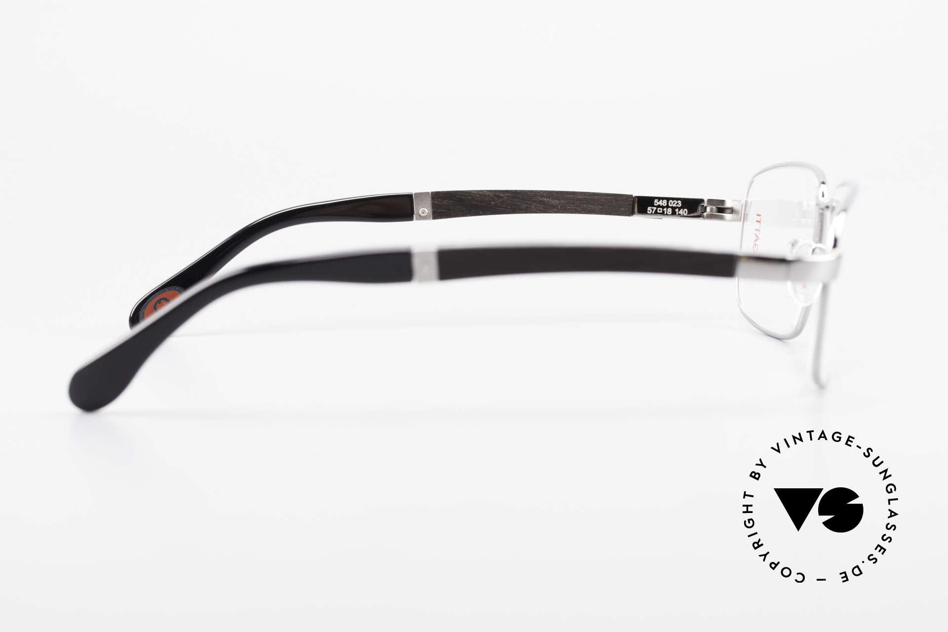 Bugatti 548 Ebenholz Ruthenium Brille L, ungetragenes Luxus-Modell; eine Rarität für Kenner, Passend für Herren