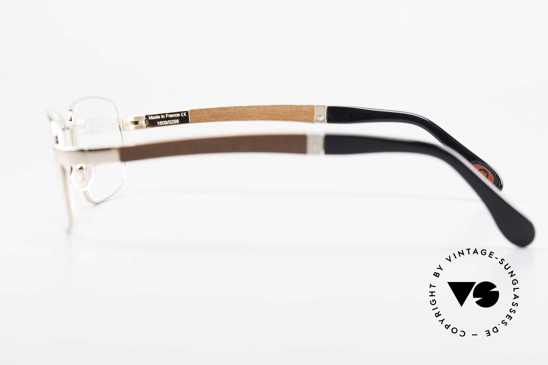 Bugatti 548 Padouk Edelholz Brille Gold M, absolutes Spitzen-Produkt in Design & Verarbeitung, Passend für Herren