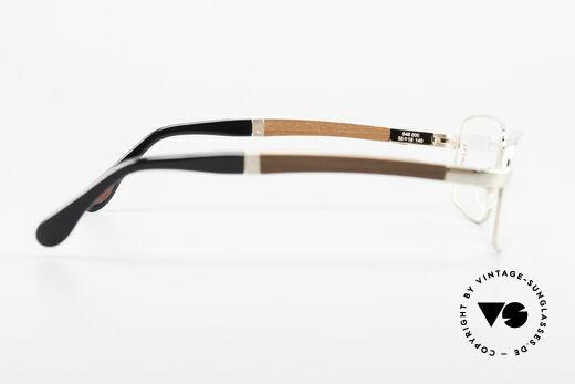 Bugatti 548 Padouk Edelholz Brille Gold M, ungetragenes Luxus-Modell; eine Rarität für Kenner, Passend für Herren