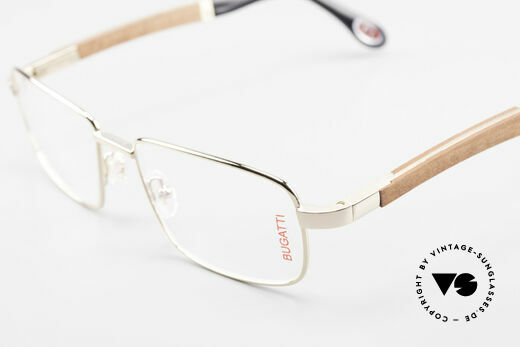 Bugatti 548 Padouk Edelholz Brille Gold M, Größe: medium, Passend für Herren