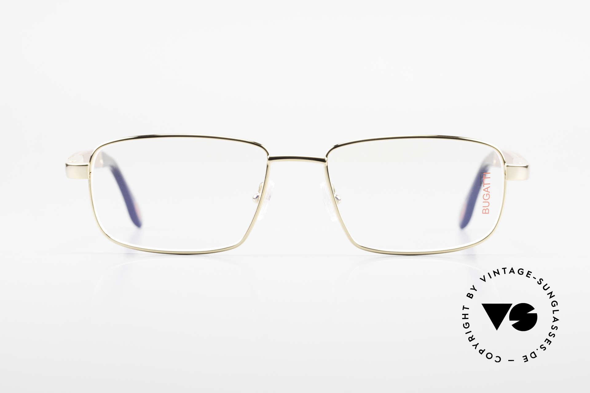 Bugatti 548 Padouk Edelholz Brille Gold L, die Luxus-Fassung (L Gr. 57/18) ist 22KT vergoldet, Passend für Herren