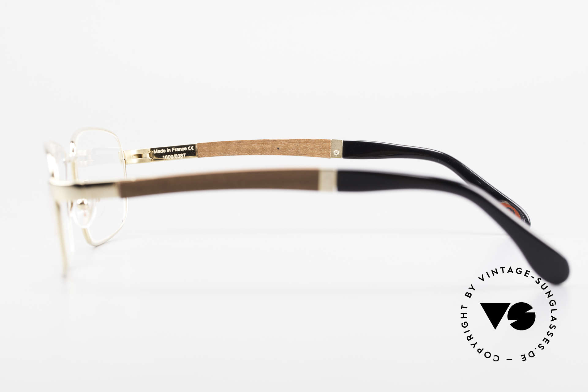 Bugatti 548 Padouk Edelholz Brille Gold L, absolutes Spitzen-Produkt in Design & Verarbeitung, Passend für Herren