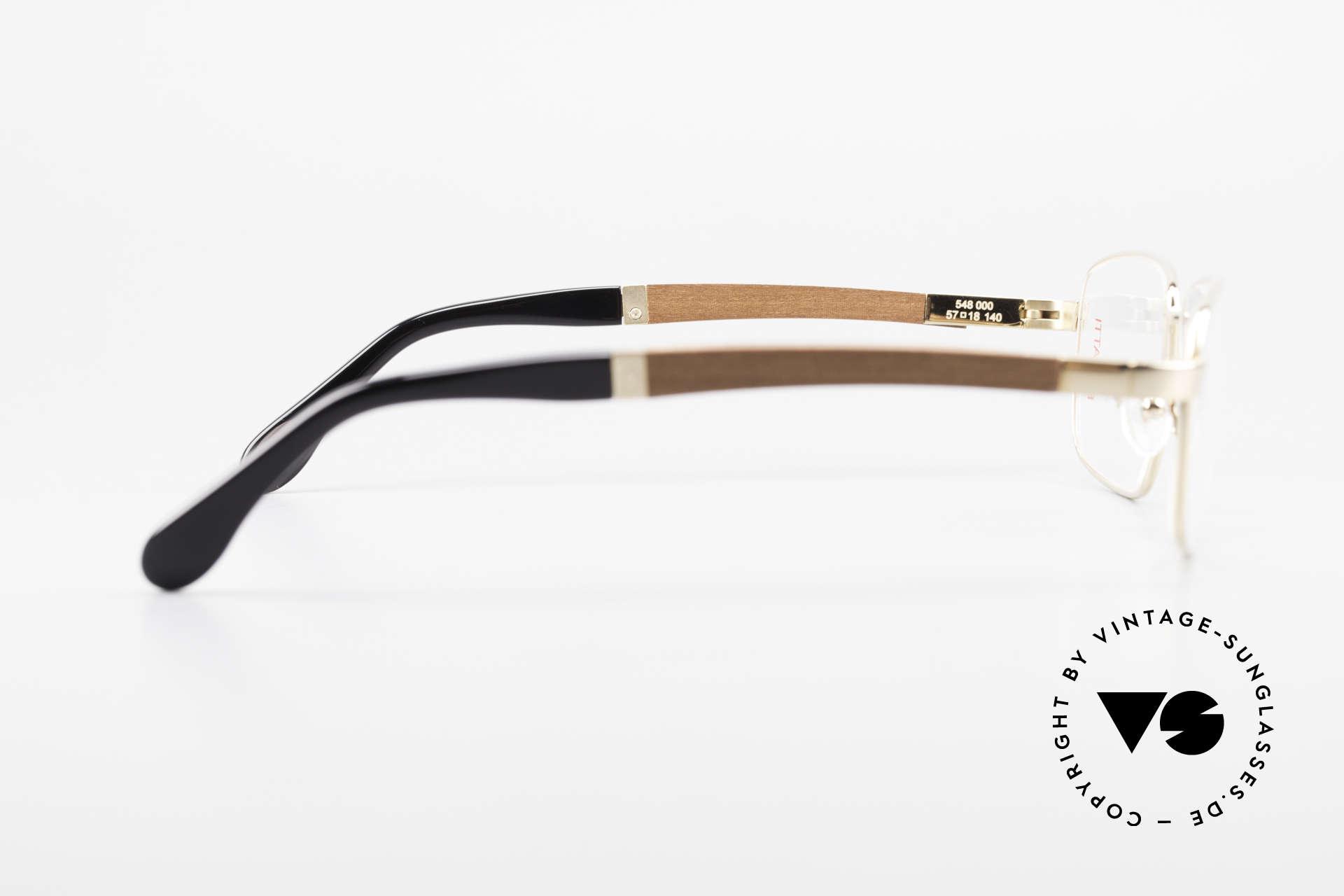 Bugatti 548 Padouk Edelholz Brille Gold L, ungetragenes Luxus-Modell; eine Rarität für Kenner, Passend für Herren