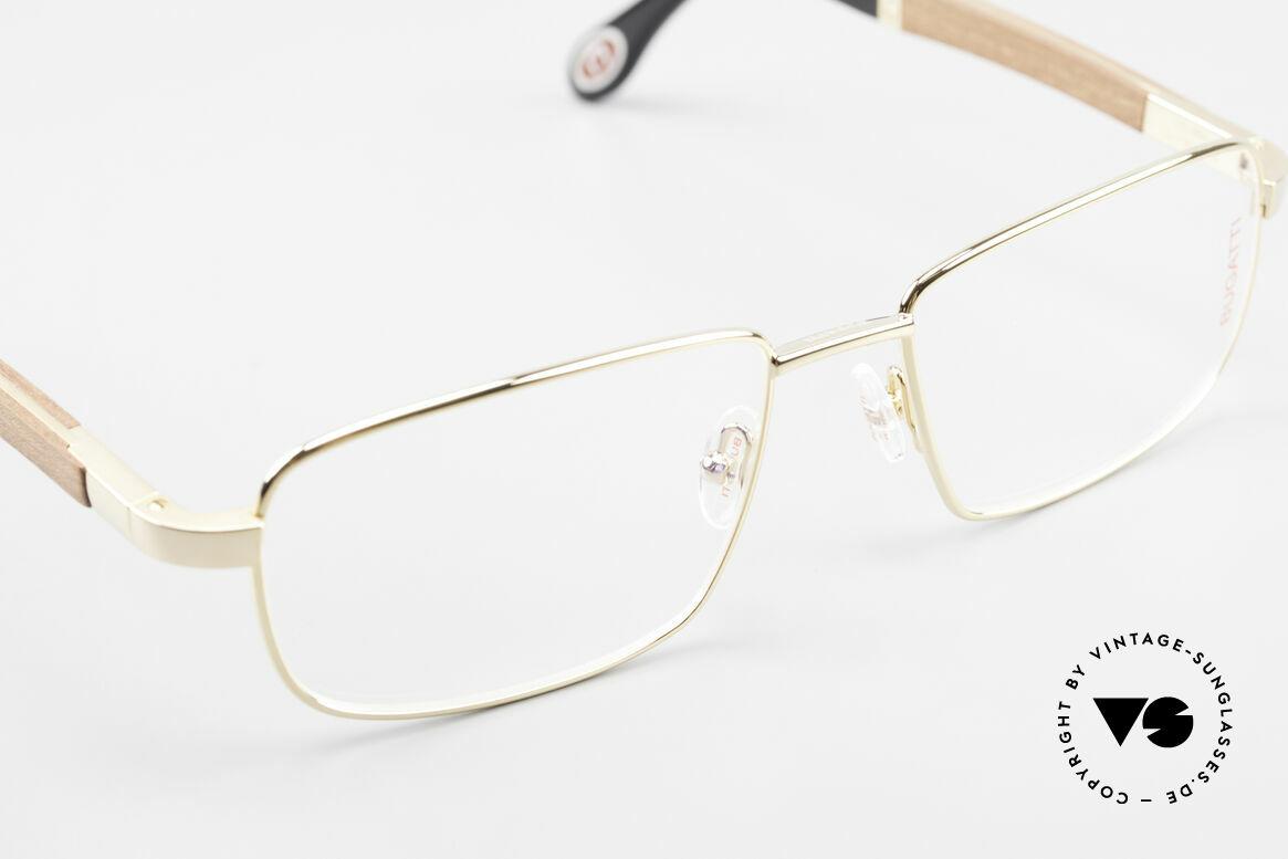 Bugatti 548 Padouk Edelholz Brille Gold L, Größe: large, Passend für Herren
