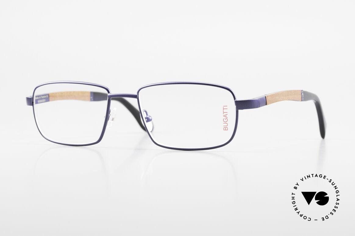 Bugatti 548 Padouk Holzbrille Nachtblau M, Bugatti vintage Brille 548 in unglaublicher Qualität, Passend für Herren