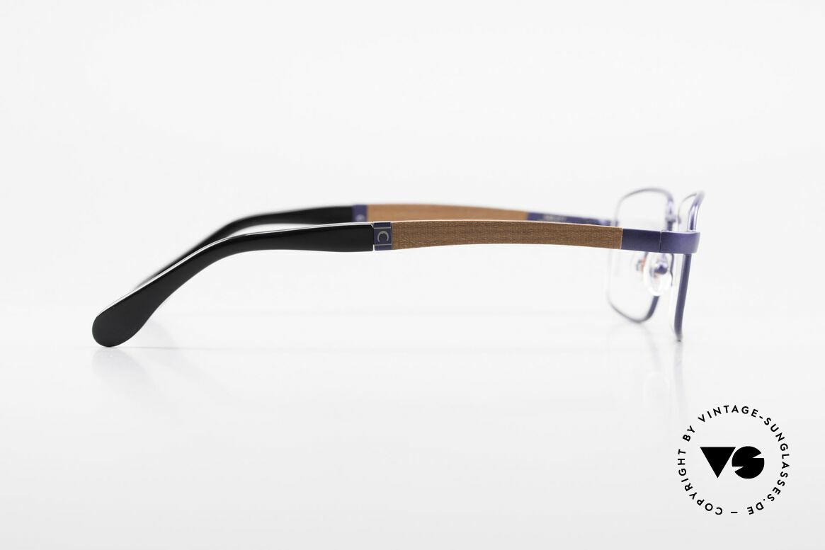 Bugatti 548 Padouk Holzbrille Nachtblau M, flexible Federscharniere für eine optimale Passform, Passend für Herren