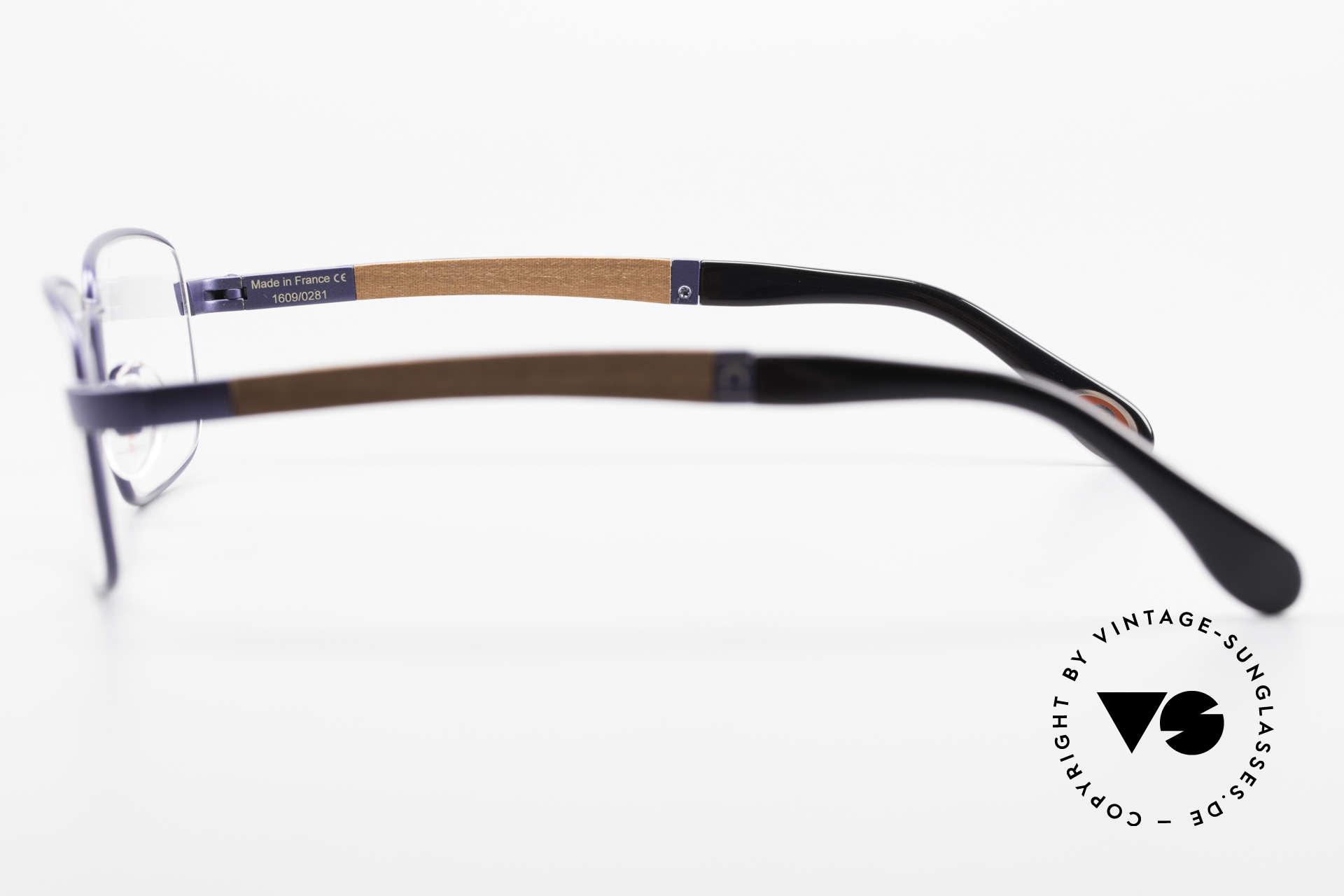 Bugatti 548 Padouk Holzbrille Nachtblau M, absolutes Spitzen-Produkt in Design & Verarbeitung, Passend für Herren
