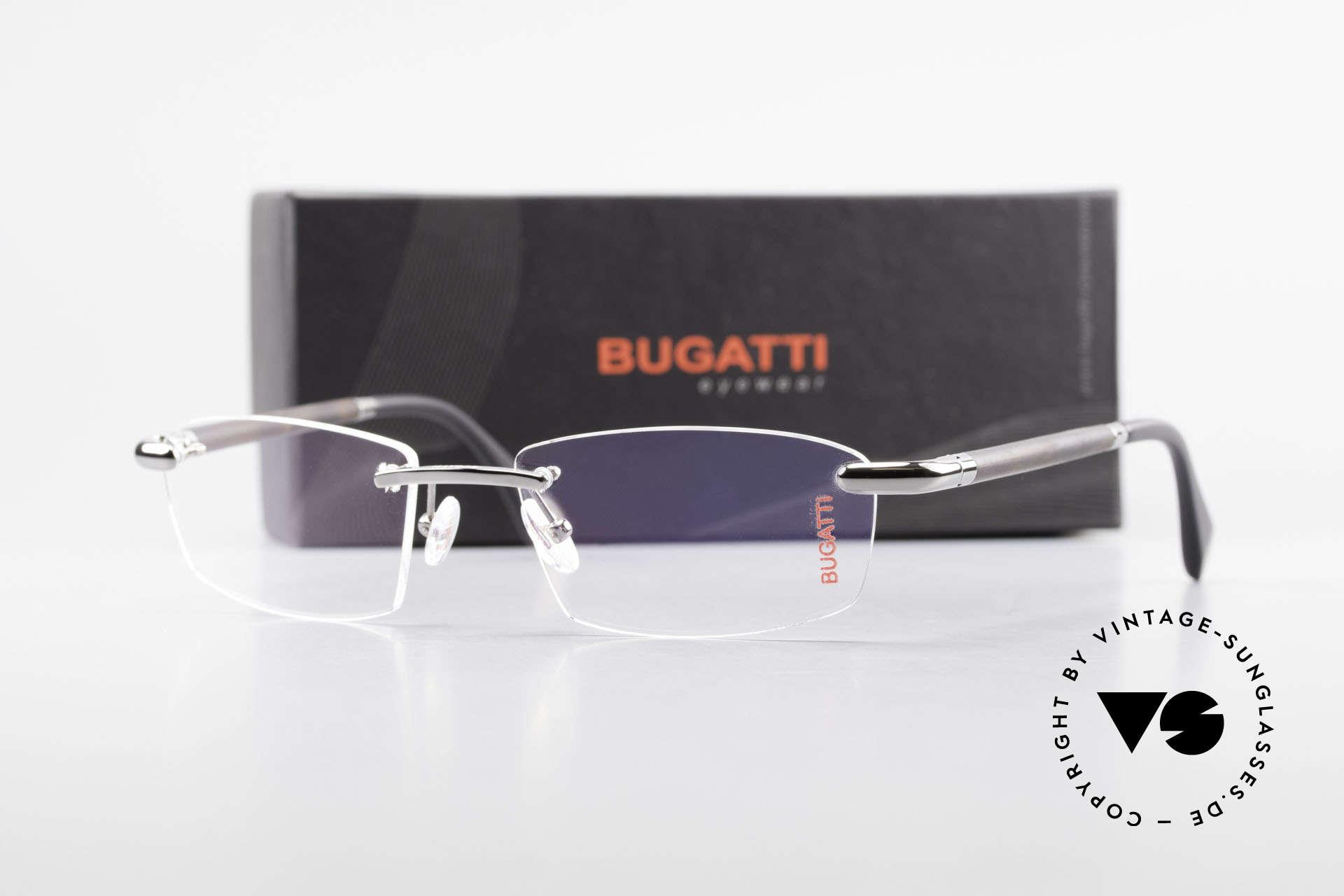 Bugatti 546 Ruthenium Echthorn Randlos, Größe: medium, Passend für Herren
