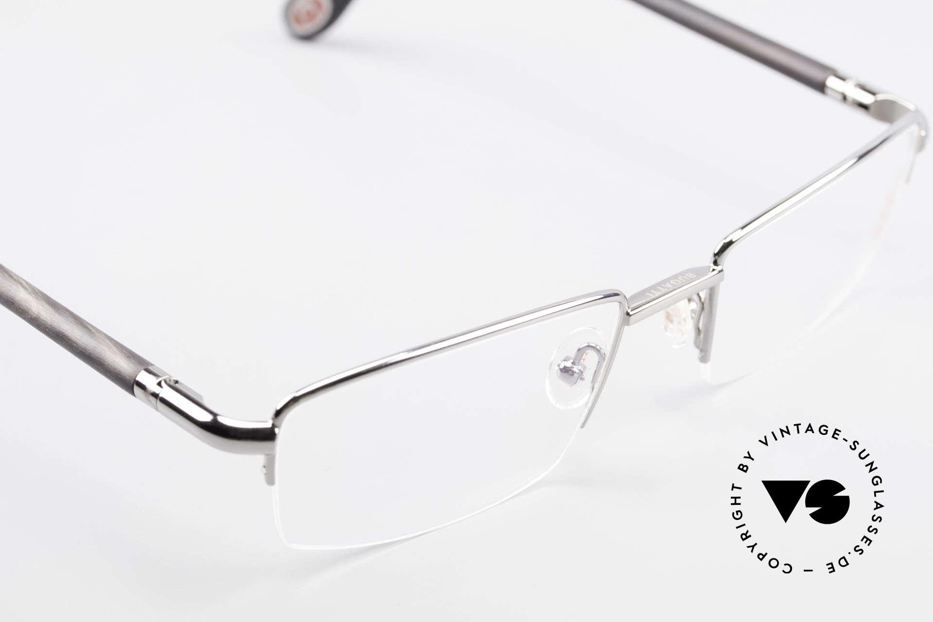 Bugatti 535 Naturhorn Brille Palladium, absolutes Spitzen-Produkt in Design & Verarbeitung, Passend für Herren