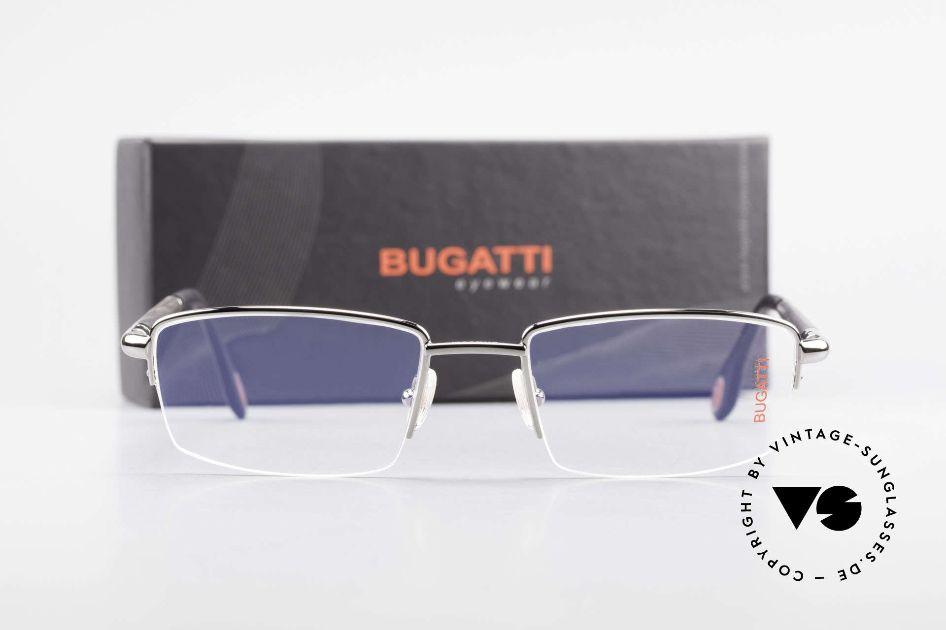 Bugatti 535 Naturhorn Brille Palladium, Größe: medium, Passend für Herren
