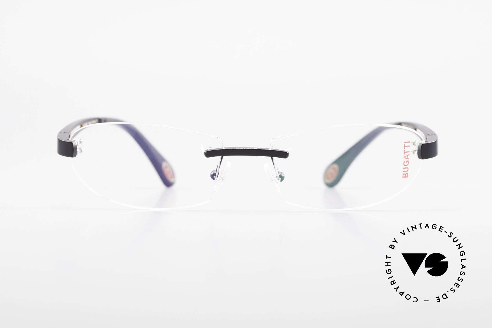 Bugatti 516 Randlose Luxusbrille Herren, randlose, sportliche Form ... männlich, markant, Passend für Herren