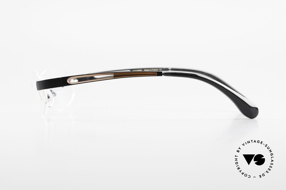 Bugatti 516 Randlose Luxusbrille Herren, wahre Top-Qualität (Metall ist schwarz satiniert), Passend für Herren