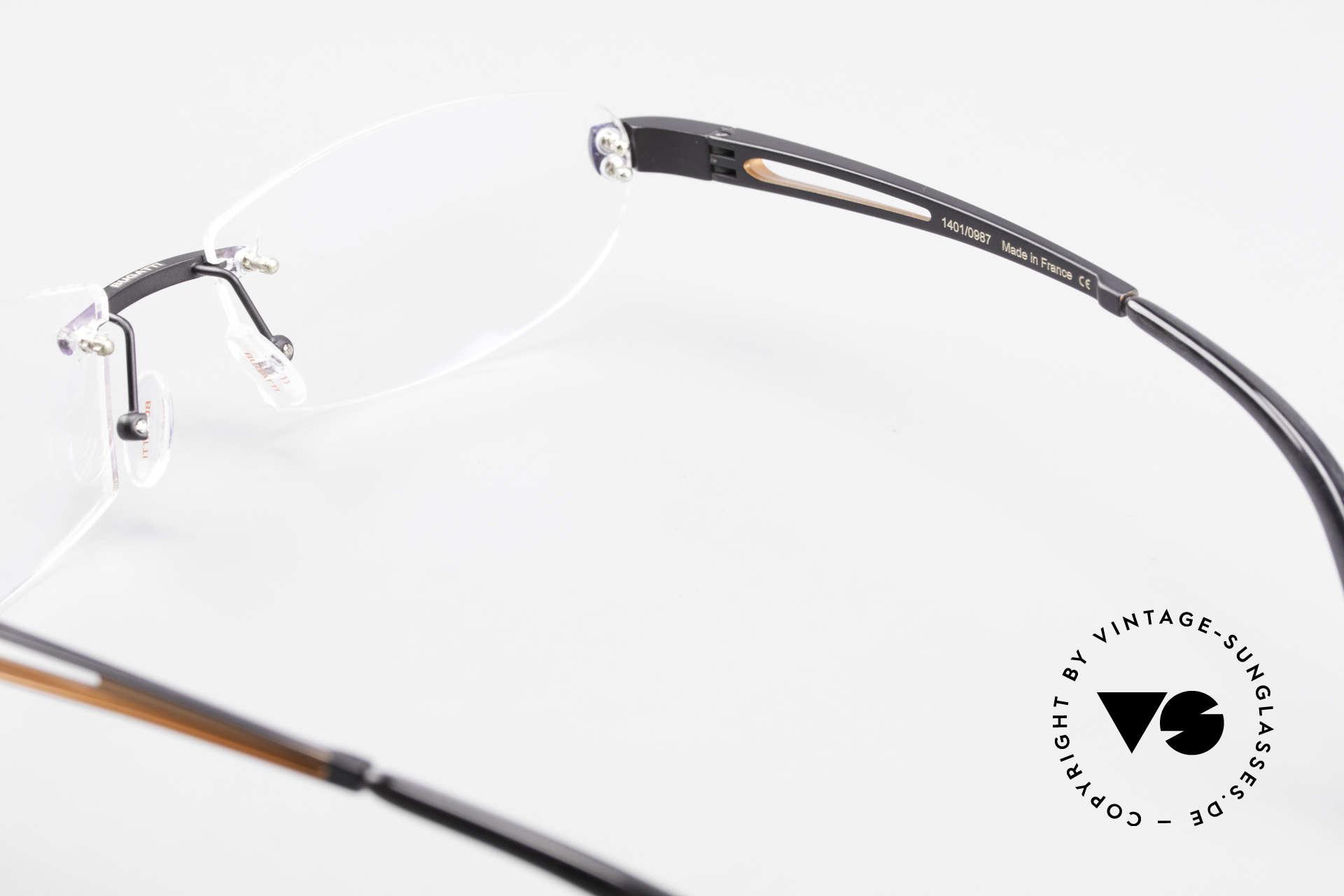 Bugatti 516 Randlose Luxusbrille Herren, Größe: medium, Passend für Herren