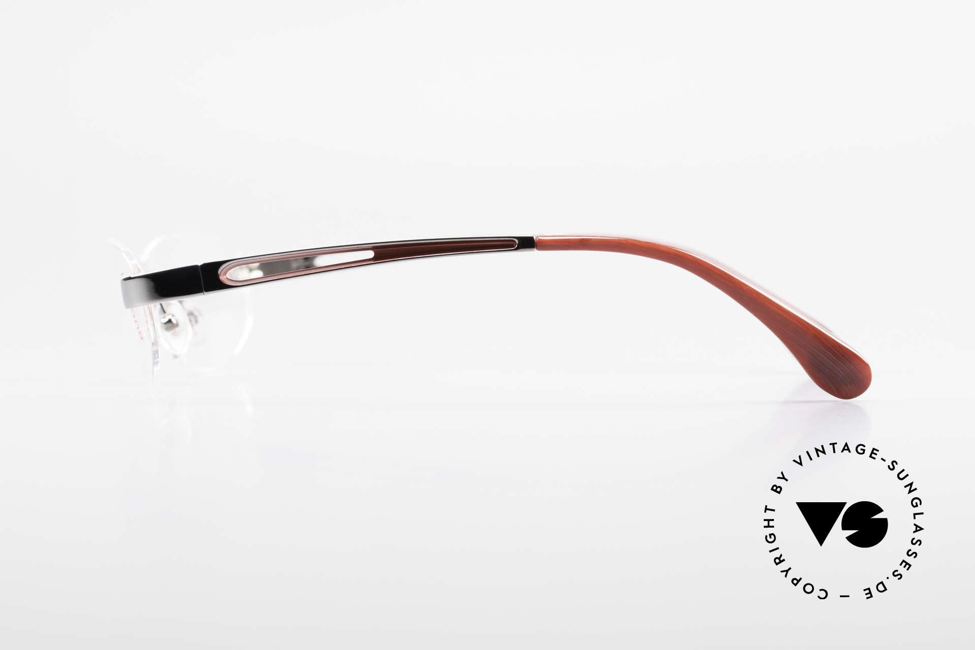 Bugatti 516 Randlosbrille Herrenfassung, Spitzen-Qualität (Metall ist Ruthenium plattiert), Passend für Herren