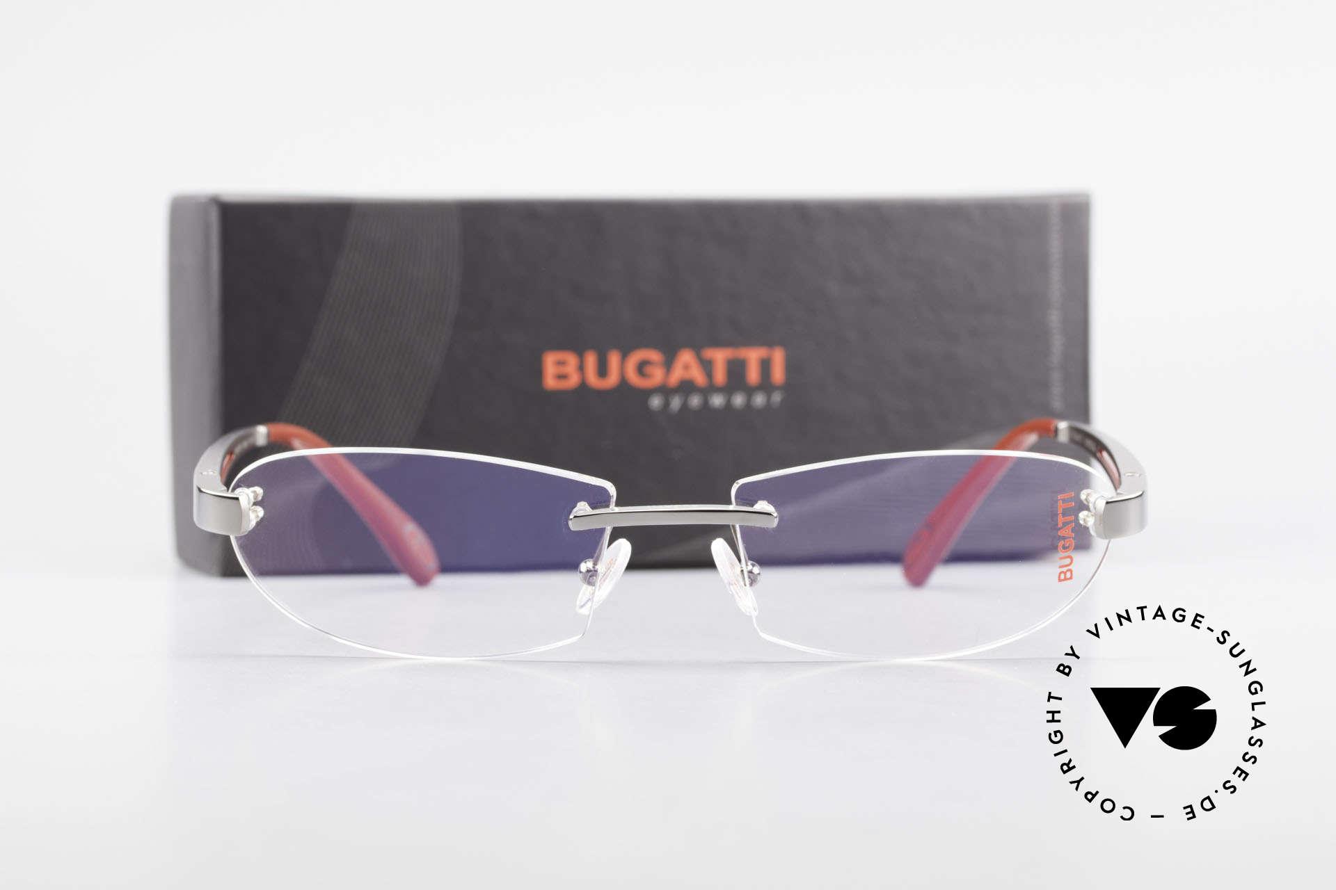 Bugatti 516 Randlosbrille Herrenfassung, Größe: medium, Passend für Herren