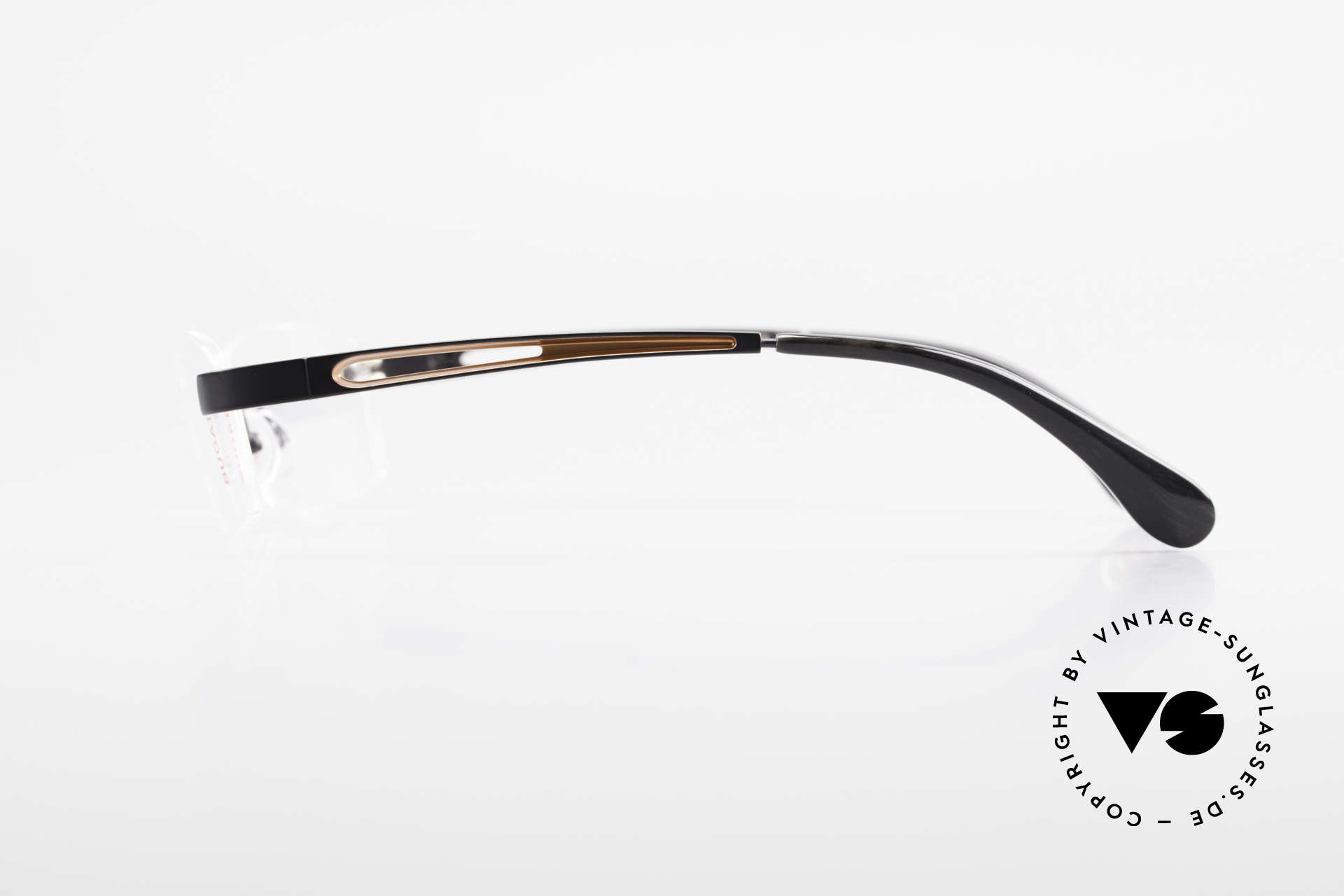 Bugatti 515 Randlose Designerbrille Men, wahre Top-Qualität (Metall ist schwarz satiniert), Passend für Herren
