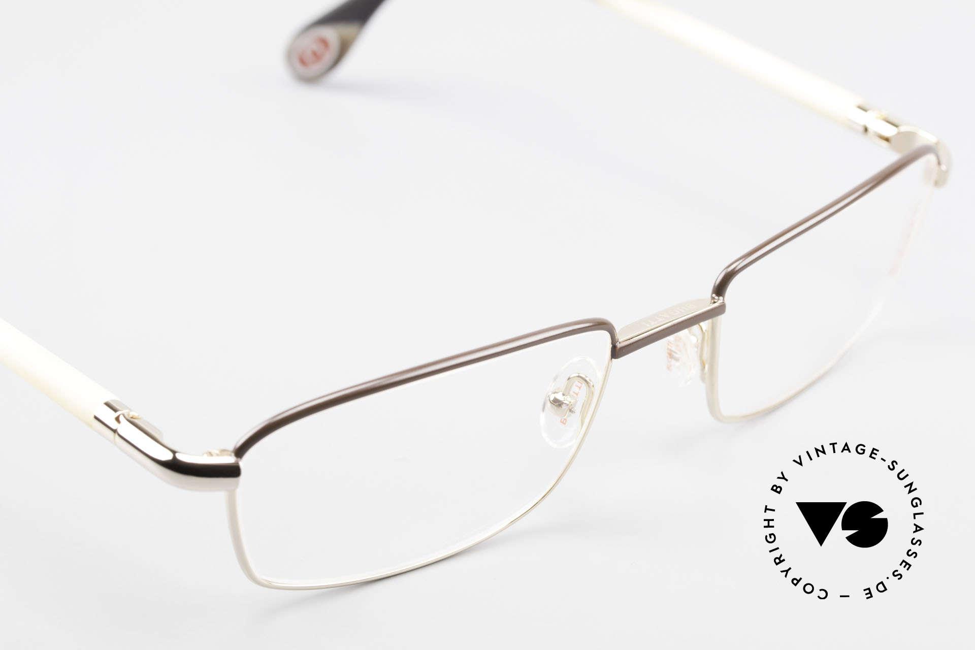 Bugatti 536 Naturhorn Brille Vergoldet, absolutes Spitzen-Produkt in Design & Verarbeitung, Passend für Herren