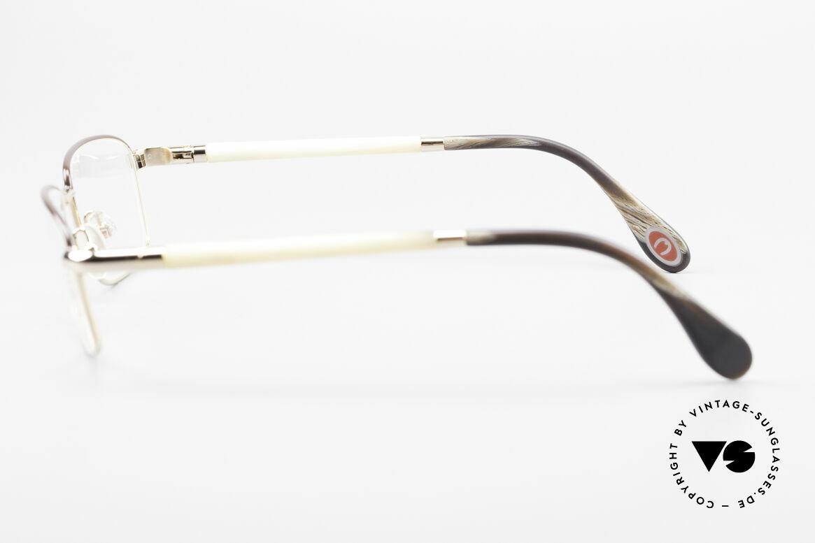 Bugatti 536 Naturhorn Brille Vergoldet, Größe: medium, Passend für Herren