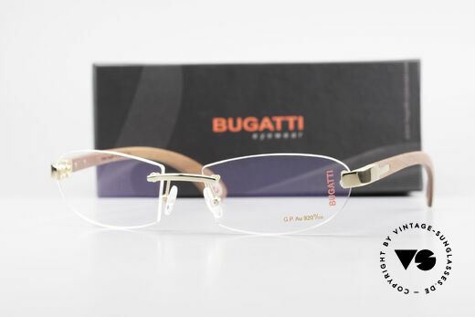 Bugatti 518 Kotibé Edelholz Gold Brille, Größe: large, Passend für Herren