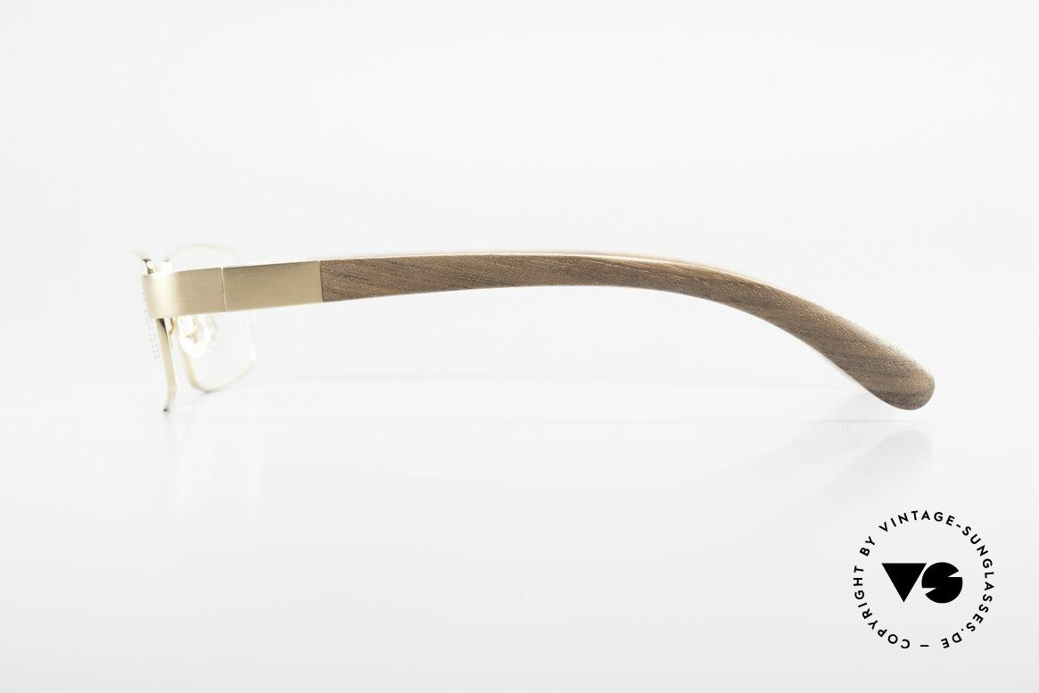 Bugatti 531 Walnussholz Titanbrille Gold, LIMITED EDITION: gab's damals nur als Kleinstserie, Passend für Herren