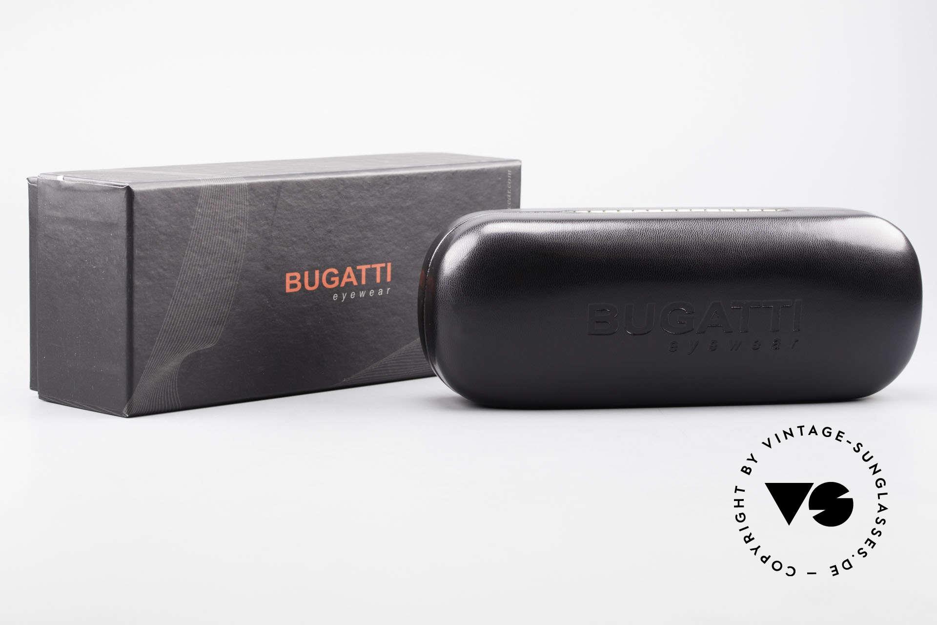 Bugatti 531 Walnussholz Titanbrille Gold, Größe: medium, Passend für Herren