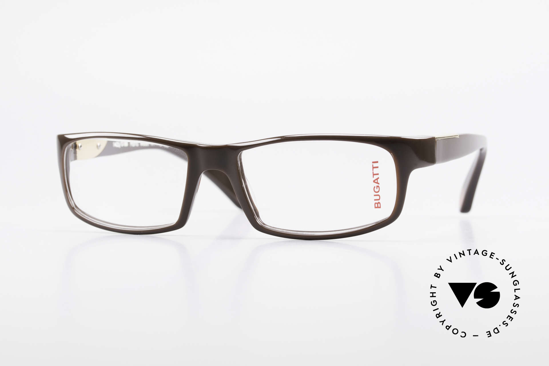 Bugatti 532 Markante Herrenbrille Luxus, markante Kunststoff Brillenfassung von Bugatti, Passend für Herren