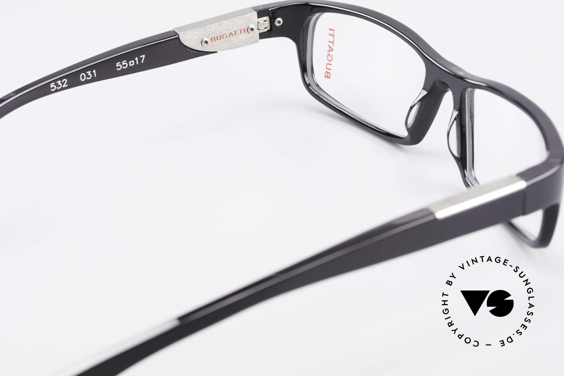 Bugatti 532 Luxus Herrenbrille Klassisch, Modell ist als Brille oder Sonnenbrille verglasbar, Passend für Herren