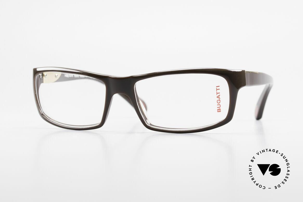 Bugatti 533 Luxusbrille Herren Designer, markante Kunststoff Brillenfassung von Bugatti, Passend für Herren