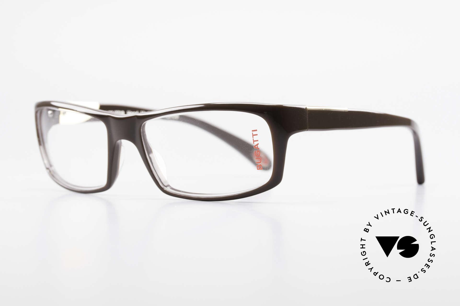 Bugatti 533 Luxusbrille Herren Designer, optimaler Tragekomfort dank Feder-Scharnieren, Passend für Herren