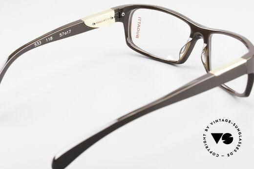 Bugatti 533 Luxusbrille Herren Designer, Modell ist als Brille oder Sonnenbrille verglasbar, Passend für Herren