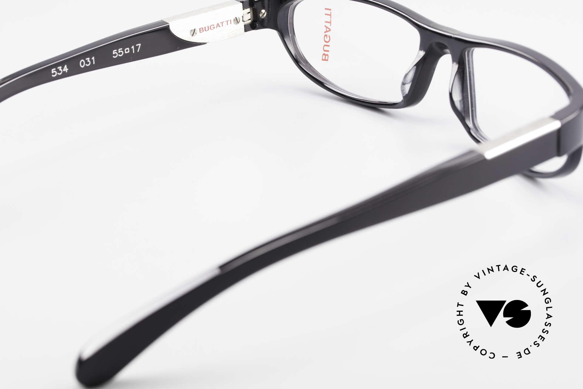 Bugatti 534 Klassische Herrenbrille Luxus, Modell ist als Brille oder Sonnenbrille verglasbar, Passend für Herren