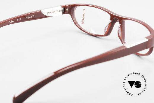 Bugatti 534 Markante Luxusbrille Vintage, Modell ist als Brille oder Sonnenbrille verglasbar, Passend für Herren