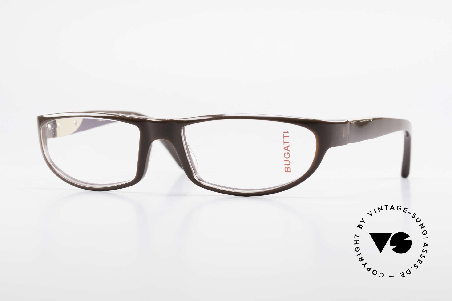 Bugatti 534 Markante Vintagebrille Luxus, markante Kunststoff Brillenfassung von Bugatti, Passend für Herren
