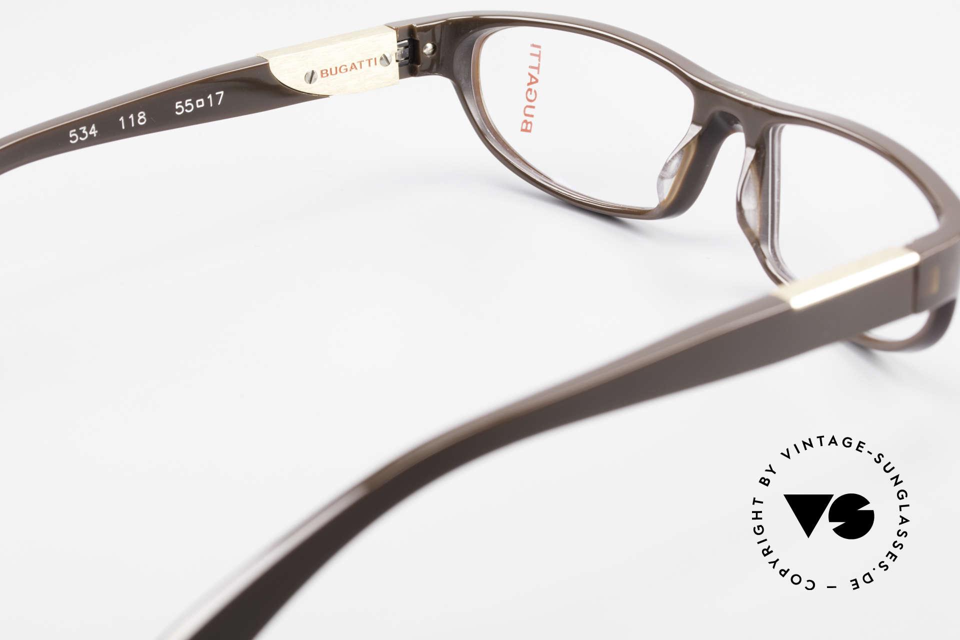 Bugatti 534 Markante Vintagebrille Luxus, Modell ist als Brille oder Sonnenbrille verglasbar, Passend für Herren
