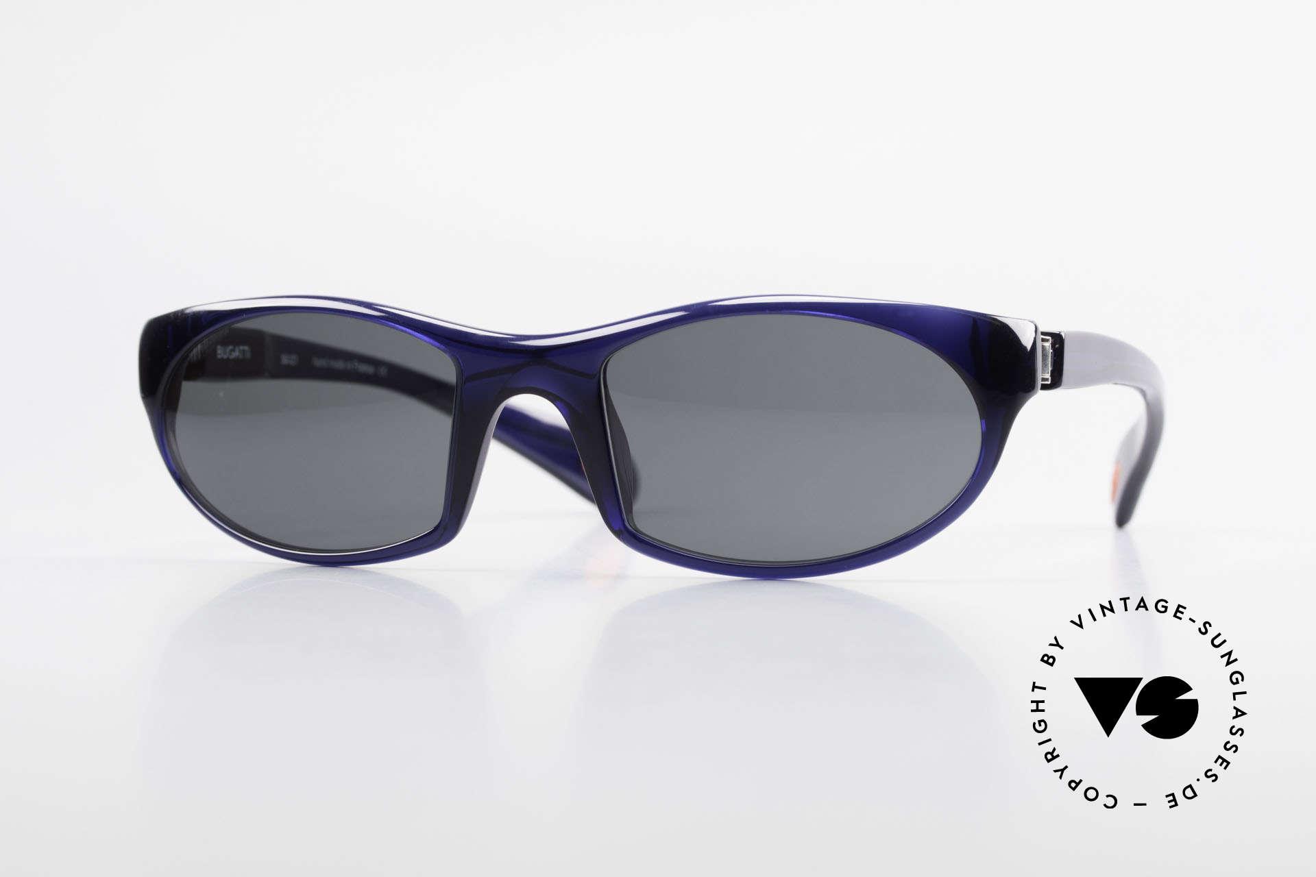 Bugatti 328 Odotype Designer Vintage Sonnenbrille, sportliche high-tech Sonnenbrille von Bugatti, Passend für Herren