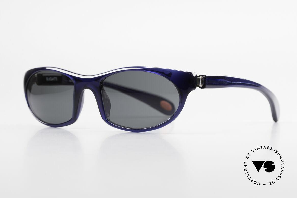 Bugatti 328 Odotype Designer Vintage Sonnenbrille, ergonomischer Rahmen mit 180°-Scharnieren, Passend für Herren