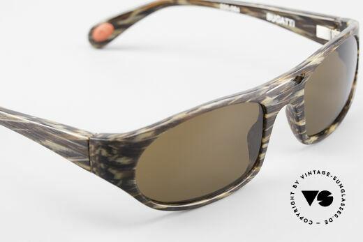 Bugatti 220 Designer Luxus Sonnenbrille, dunkelbraune Sonnengläser (100% UV Protection), Passend für Herren