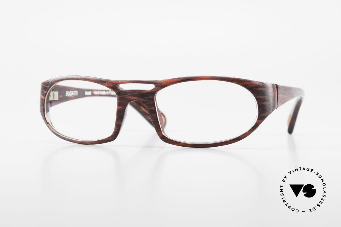 Bugatti 220 Seltene Designer Luxusbrille, markante high-tech Brillenfassung von Bugatti, Passend für Herren
