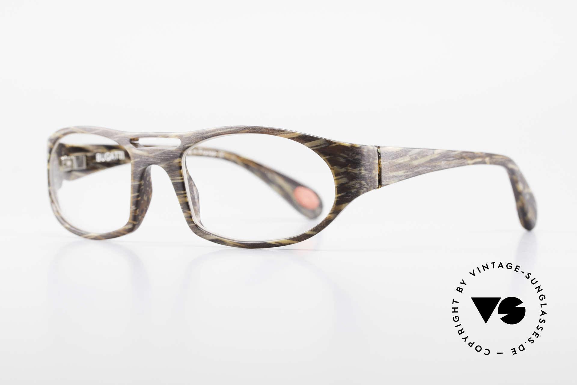 Bugatti 220 Herren Designer Luxusbrille, optimaler Tragekomfort dank Feder-Scharnieren, Passend für Herren